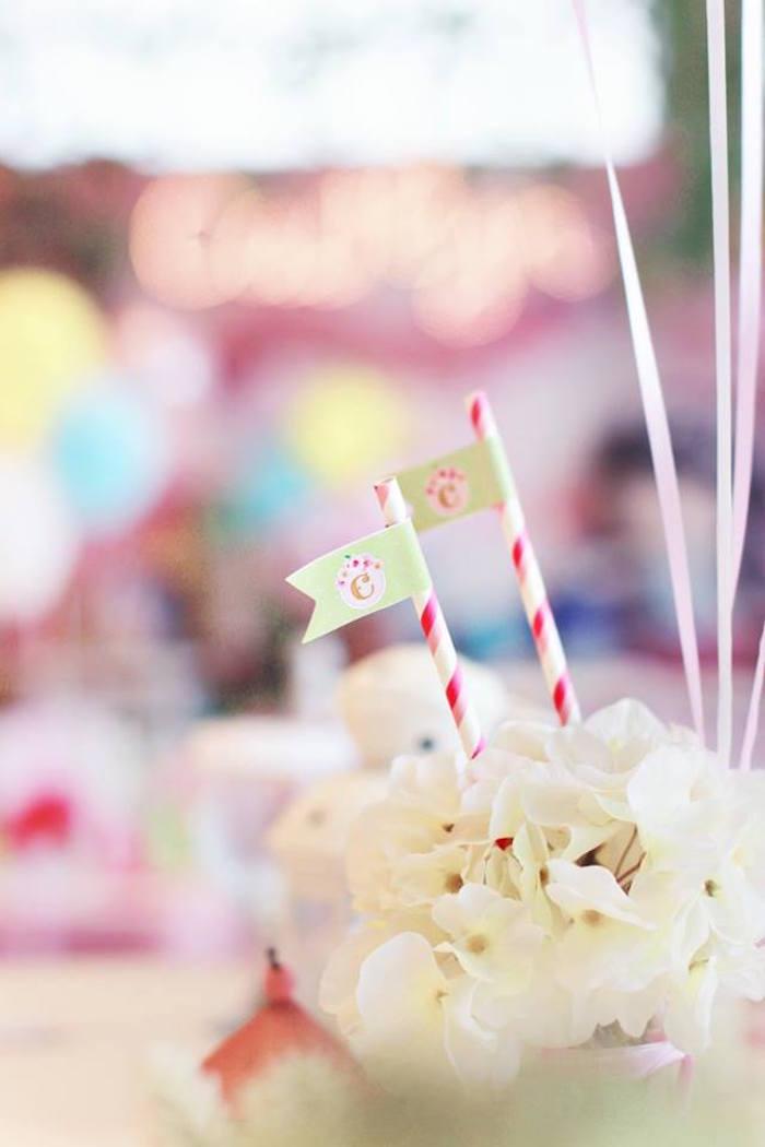 Florals from a Magical Fairy Birthday Party via Kara's Party Ideas | KarasPartyIdeas.com (15)