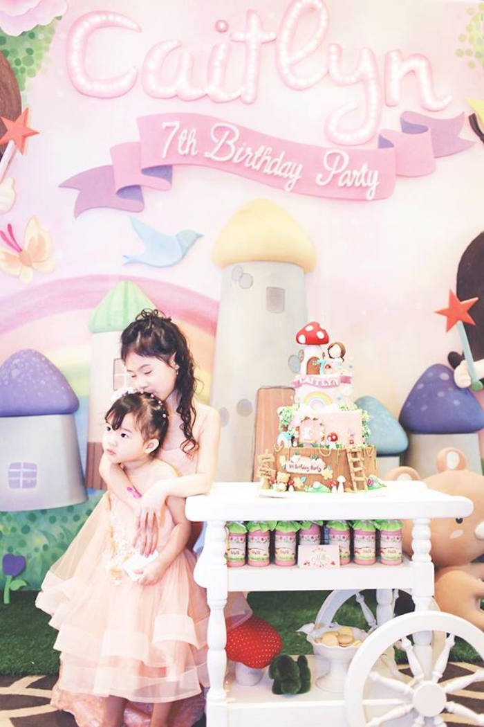 Cake Cart + Little Girls from a Magical Fairy Birthday Party via Kara's Party Ideas | KarasPartyIdeas.com (14)