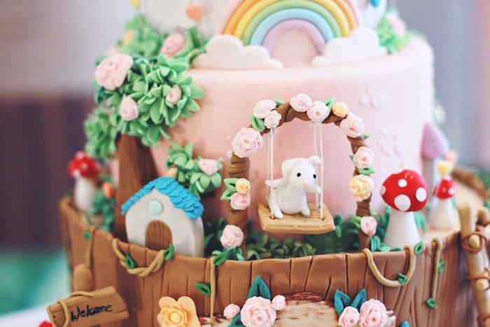 Cake Detail from a Magical Fairy Birthday Party via Kara's Party Ideas | KarasPartyIdeas.com (12)
