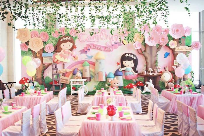 Partyscape from a Magical Fairy Birthday Party via Kara's Party Ideas | KarasPartyIdeas.com (11)