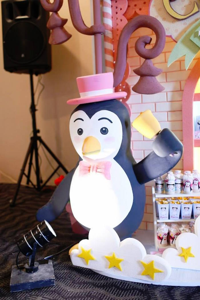 Penguin from a Mary Poppins Themed Birthday Party via Kara's Party Ideas KarasPartyIdeas.com (15)