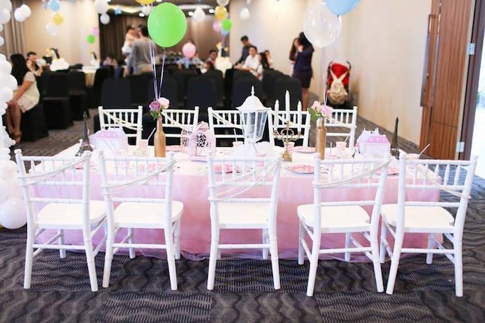 Guest Table from a Mary Poppins Themed Birthday Party via Kara's Party Ideas KarasPartyIdeas.com (28)