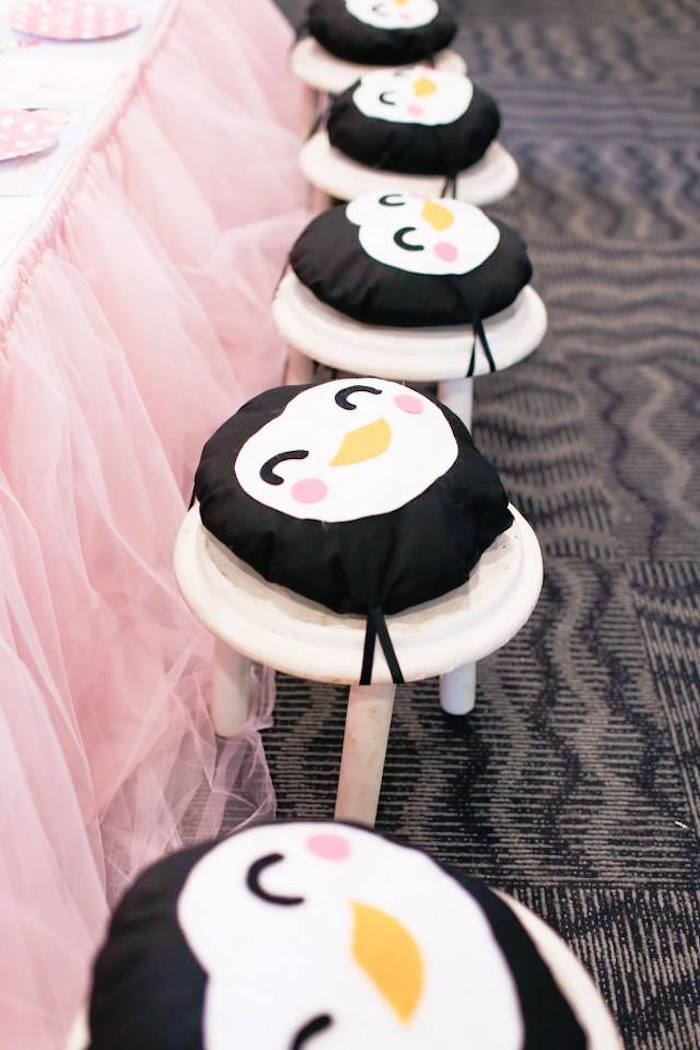 Penguin Chair Cushions from a Mary Poppins Themed Birthday Party via Kara's Party Ideas KarasPartyIdeas.com (9)