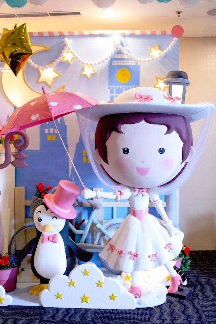 Mary Poppins + Penguin from a Mary Poppins Themed Birthday Party via Kara's Party Ideas KarasPartyIdeas.com (4)