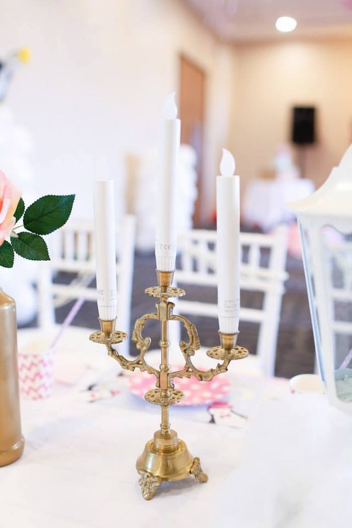Candlestick adorning a Guest Table from a Mary Poppins Themed Birthday Party via Kara's Party Ideas KarasPartyIdeas.com (23)