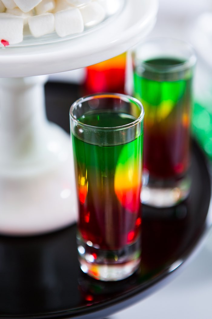 Jello Shooters from a Modern Justice League Birthday Party via Kara's Party Ideas KarasPartyIdeas.com (35)