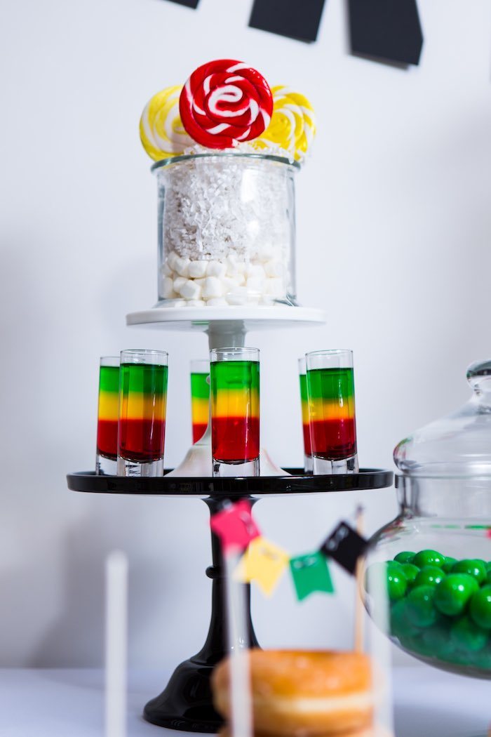 Lollipops + Jello Shooters from a Modern Justice League Birthday Party via Kara's Party Ideas KarasPartyIdeas.com (34)
