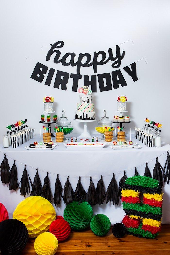 Brilliant Karas Party Ideas Modern Justice League Birthday Party Karas Funny Birthday Cards Online Kookostrdamsfinfo