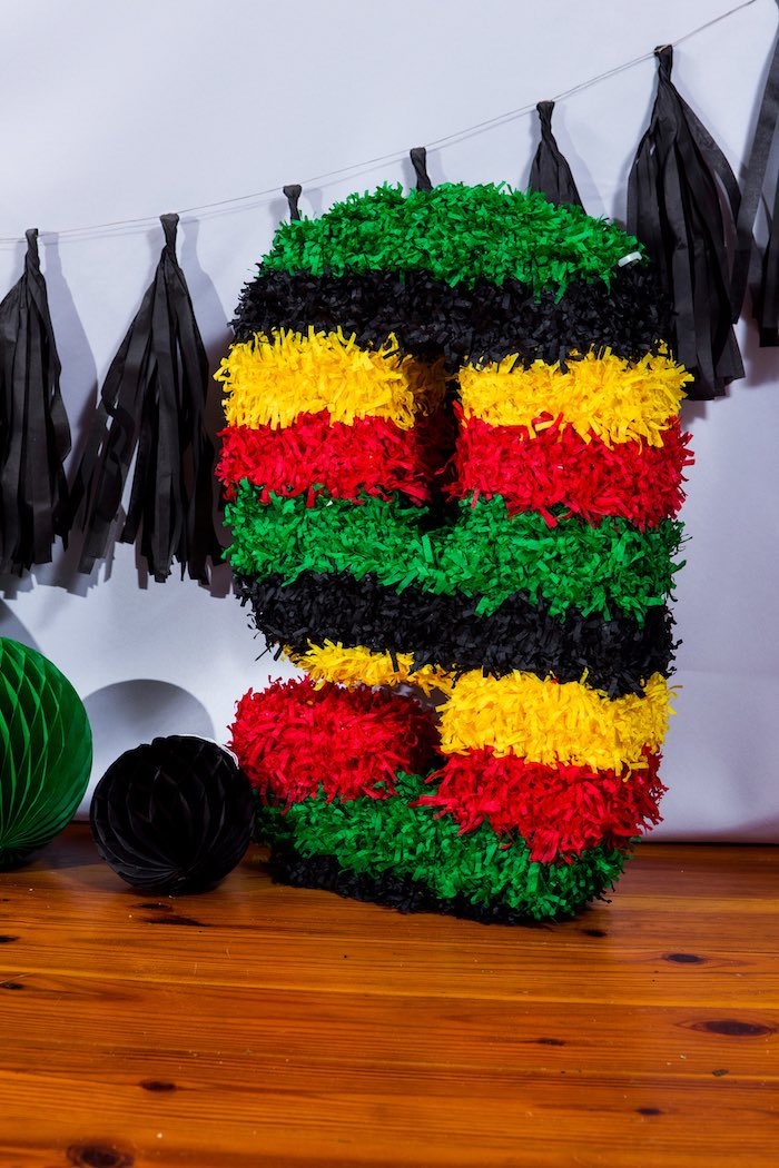 Piñata from a Modern Justice League Birthday Party via Kara's Party Ideas KarasPartyIdeas.com (29)