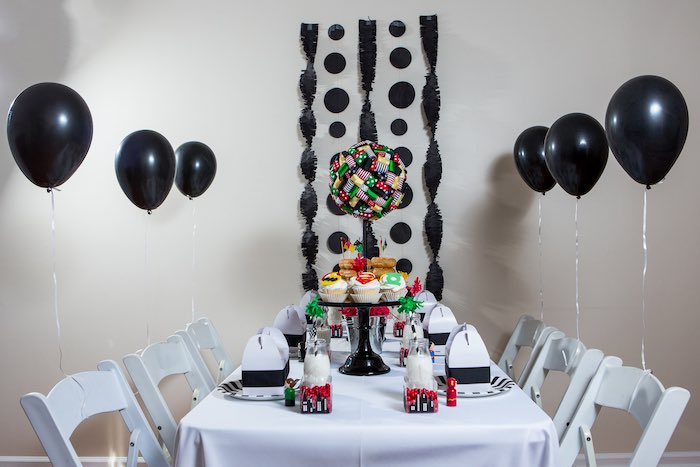 Dining Table from a Modern Justice League Birthday Party via Kara's Party Ideas KarasPartyIdeas.com (27)