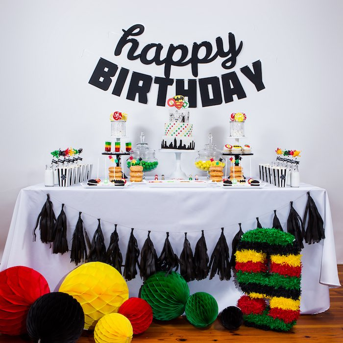 Head Table from a Modern Justice League Birthday Party via Kara's Party Ideas KarasPartyIdeas.com (50)