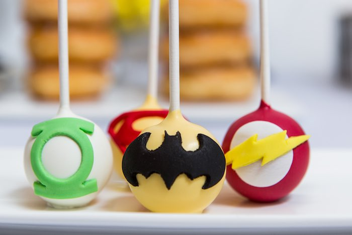 Cake Pops from a Modern Justice League Birthday Party via Kara's Party Ideas KarasPartyIdeas.com (20)