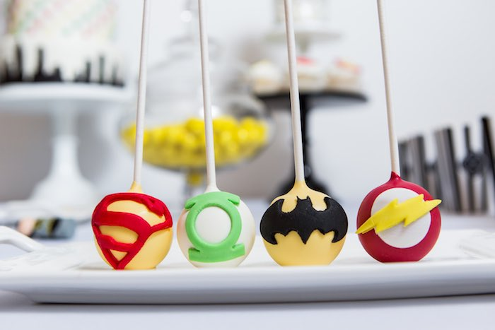 Cake Pops from a Modern Justice League Birthday Party via Kara's Party Ideas KarasPartyIdeas.com (19)