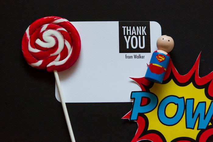 Thank You Card Stationery from a Modern Justice League Birthday Party via Kara's Party Ideas KarasPartyIdeas.com (15)