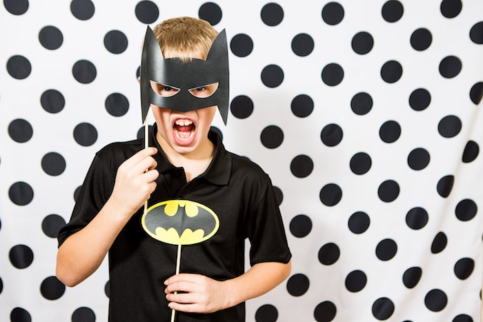 Superhero Photo Op from a Modern Justice League Birthday Party via Kara's Party Ideas KarasPartyIdeas.com (5)