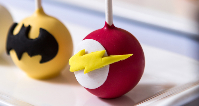 Cake Pops from a Modern Justice League Birthday Party via Kara's Party Ideas KarasPartyIdeas.com (1)