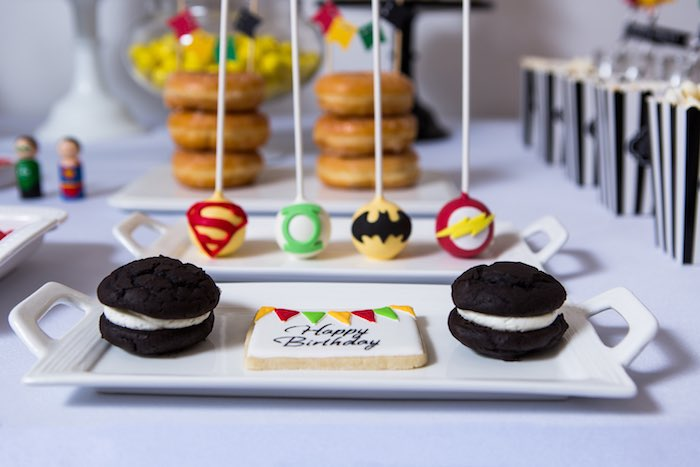 Sweets from a Modern Justice League Birthday Party via Kara's Party Ideas KarasPartyIdeas.com (47)