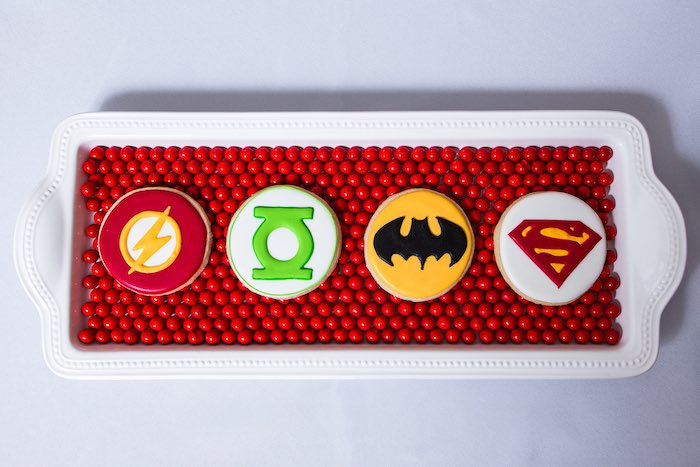 Cookies from a Modern Justice League Birthday Party via Kara's Party Ideas KarasPartyIdeas.com (45)