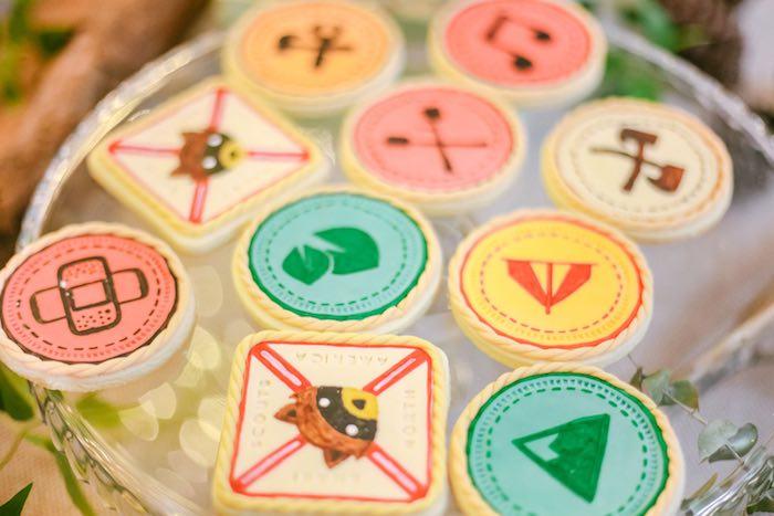 Cookies from a Moonrise Kingdom Camping Birthday Party via Kara's Party Ideas | KarasPartyIdeas.com (44)