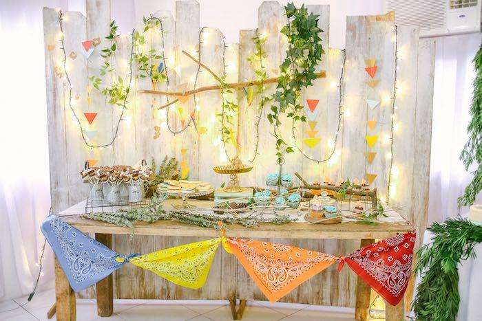 Sweet Table from a Moonrise Kingdom Camping Birthday Party via Kara's Party Ideas | KarasPartyIdeas.com (39)