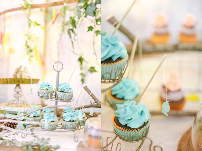 Cupcakes from a Moonrise Kingdom Camping Birthday Party via Kara's Party Ideas | KarasPartyIdeas.com (30)