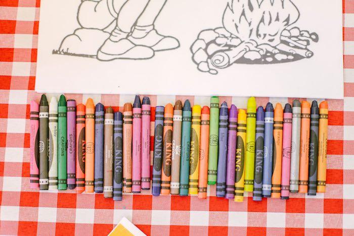 Coloring Activity from a Moonrise Kingdom Camping Birthday Party via Kara's Party Ideas | KarasPartyIdeas.com (27)