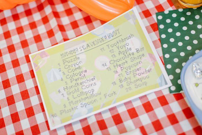 Scavenger Hunt Check List from a Moonrise Kingdom Camping Birthday Party via Kara's Party Ideas | KarasPartyIdeas.com (17)
