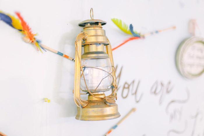 Lantern from a Moonrise Kingdom Camping Birthday Party via Kara's Party Ideas | KarasPartyIdeas.com (16)