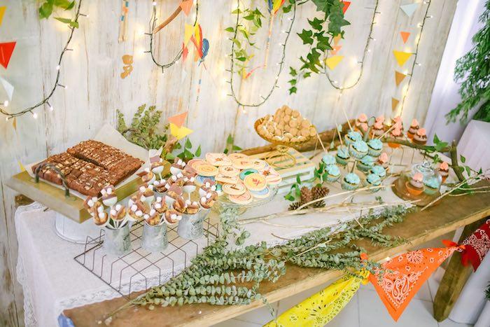 Sweet Table from a Moonrise Kingdom Camping Birthday Party via Kara's Party Ideas | KarasPartyIdeas.com (12)
