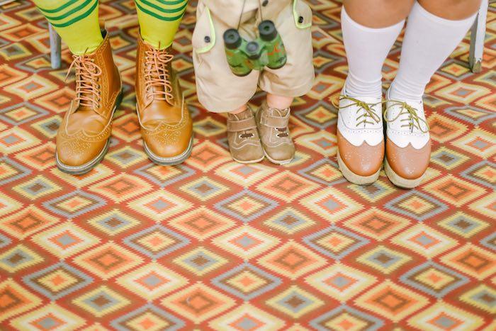 Camper's Feet from a Moonrise Kingdom Camping Birthday Party via Kara's Party Ideas | KarasPartyIdeas.com (11)