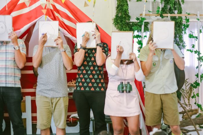 Drawing Game from a Moonrise Kingdom Camping Birthday Party via Kara's Party Ideas | KarasPartyIdeas.com (3)