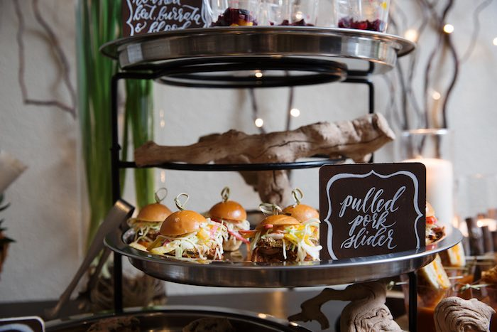 "Pulled Pork Sliders from a ""My Little Cinnabun"" Rustic Glam Baby Shower via Kara's Party Ideas KarasPartyIdeas.com (15)"