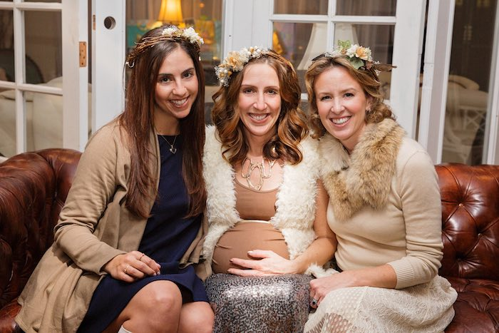 "Mommy-to-Be + Guests from a ""My Little Cinnabun"" Rustic Glam Baby Shower via Kara's Party Ideas KarasPartyIdeas.com (5)"