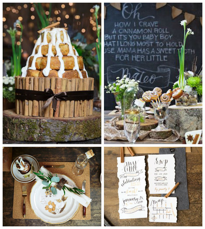 """My Little Cinnabun"" Rustic Glam Baby Shower via Kara's Party Ideas KarasPartyIdeas.com (4)"