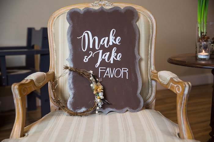 "Sign from a ""My Little Cinnabun"" Rustic Glam Baby Shower via Kara's Party Ideas KarasPartyIdeas.com (50)"