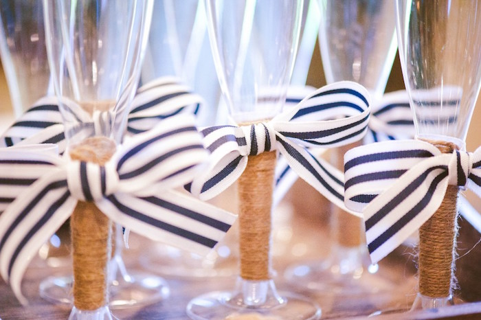 Drink Glasses from a Nautical Baby Shower + Birthday Party via Kara's Party Ideas | The Place for All Things Party! KarasPartyIdeas.com (15)