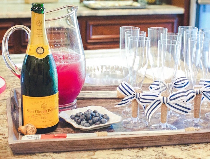 Drink Tray from a Nautical Baby Shower + Birthday Party via Kara's Party Ideas | The Place for All Things Party! KarasPartyIdeas.com (11)