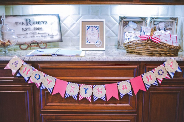 Decor from a Nautical Baby Shower + Birthday Party via Kara's Party Ideas | The Place for All Things Party! KarasPartyIdeas.com (9)