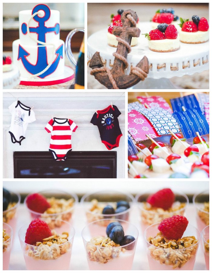 Nautical Baby Shower + Birthday Party via Kara's Party Ideas | The Place for All Things Party! KarasPartyIdeas.com (3)