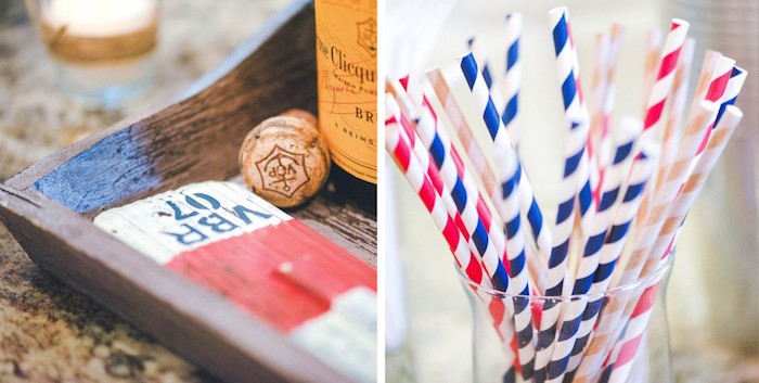 Decor + Paper Straws from a Nautical Baby Shower + Birthday Party via Kara's Party Ideas | The Place for All Things Party! KarasPartyIdeas.com (25)