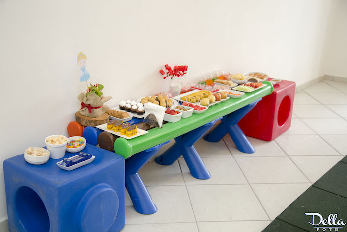 Kara 39 s party ideas once upon a time fairytale birthday - Kids party food table ideas ...