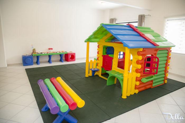 "Kids Play Area & Food Table from a ""Once Upon a Time"" Fairytale Birthday Party via Kara's Party Ideas! KarasPartyIdeas.com (33)"
