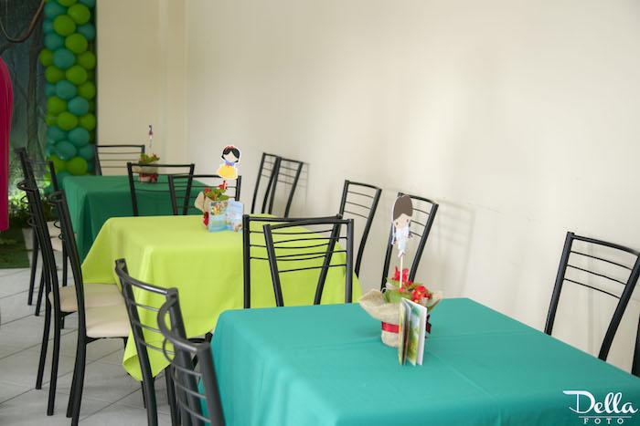"Guest Table from a ""Once Upon a Time"" Fairytale Birthday Party via Kara's Party Ideas! KarasPartyIdeas.com (31)"