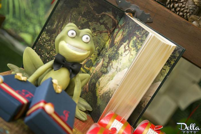 "Princess & The Frog Decor & Storybook from a ""Once Upon a Time"" Fairytale Birthday Party via Kara's Party Ideas! KarasPartyIdeas.com (24)"