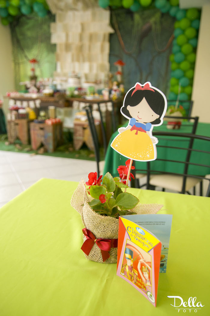 """Guest Table Centerpieces from a """"Once Upon a Time"""" Fairytale Birthday Party via Kara's Party Ideas! KarasPartyIdeas.com (13)"""