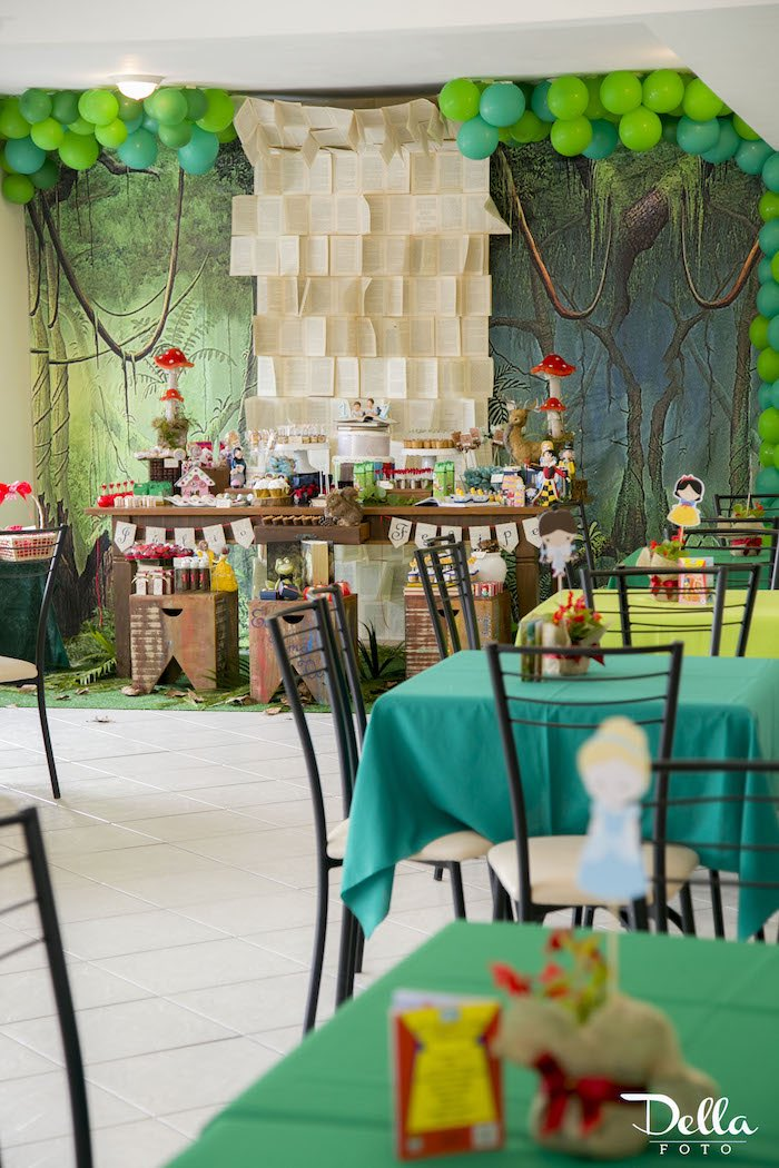 """Guest + Dessert Tables from a """"Once Upon a Time"""" Fairytale Birthday Party via Kara's Party Ideas! KarasPartyIdeas.com (11)"""