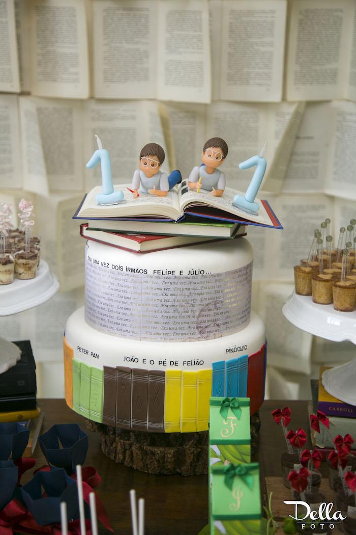 "Cake from a ""Once Upon a Time"" Fairytale Birthday Party via Kara's Party Ideas! KarasPartyIdeas.com (40)"