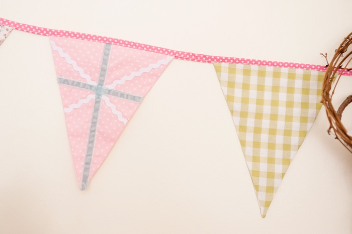 Detail of a Pennant Banner from a Pastel Easter Party via Kara's Party Ideas! KarasPartyIdeas.com (16)