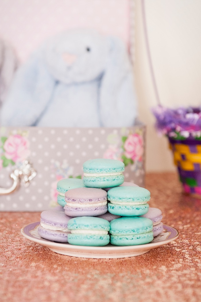 Macarons from a Pastel Easter Party via Kara's Party Ideas! KarasPartyIdeas.com (14)
