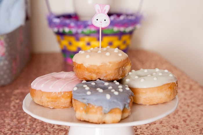 Doughnuts from a Pastel Easter Party via Kara's Party Ideas! KarasPartyIdeas.com (12)